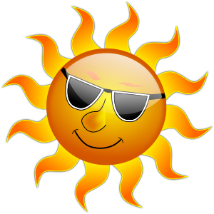 Clipart image of a sun.